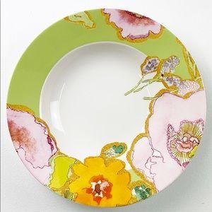 Lenox Floral Fusion Stephanie Ryan Kiwi Green Rimmed Soup//Pasta Bowl s